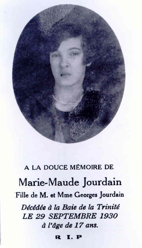 Maude Jourdain 1913-1930