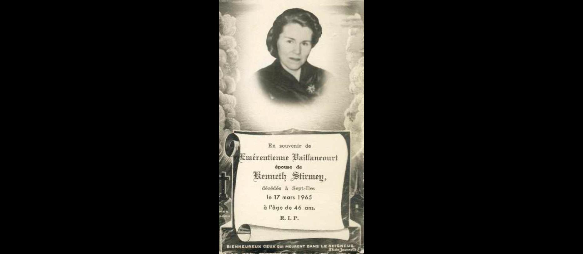 Emerentienne Vaillancourt 1919-1965