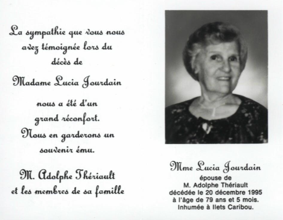 Lucia Jourdain 1916-1995