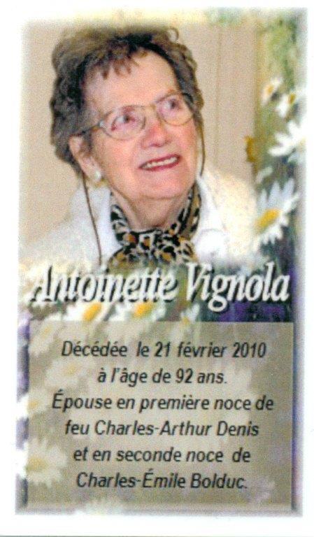Antoinette Vignola 1918-2010