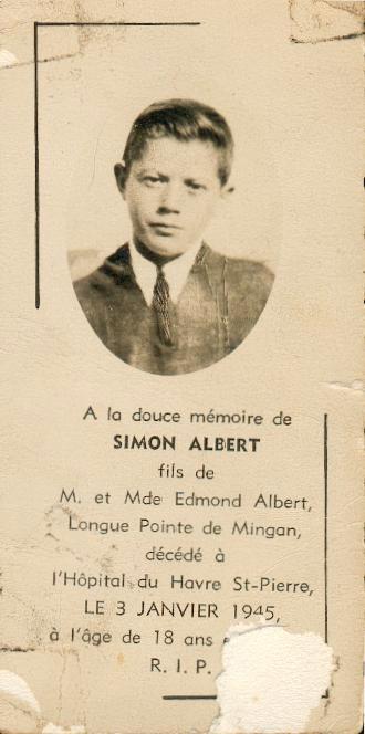 Simon Albert 1927-1945