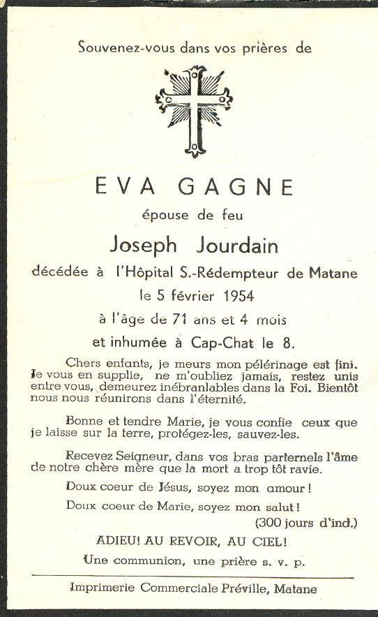 Eva Gagné 1883-1954