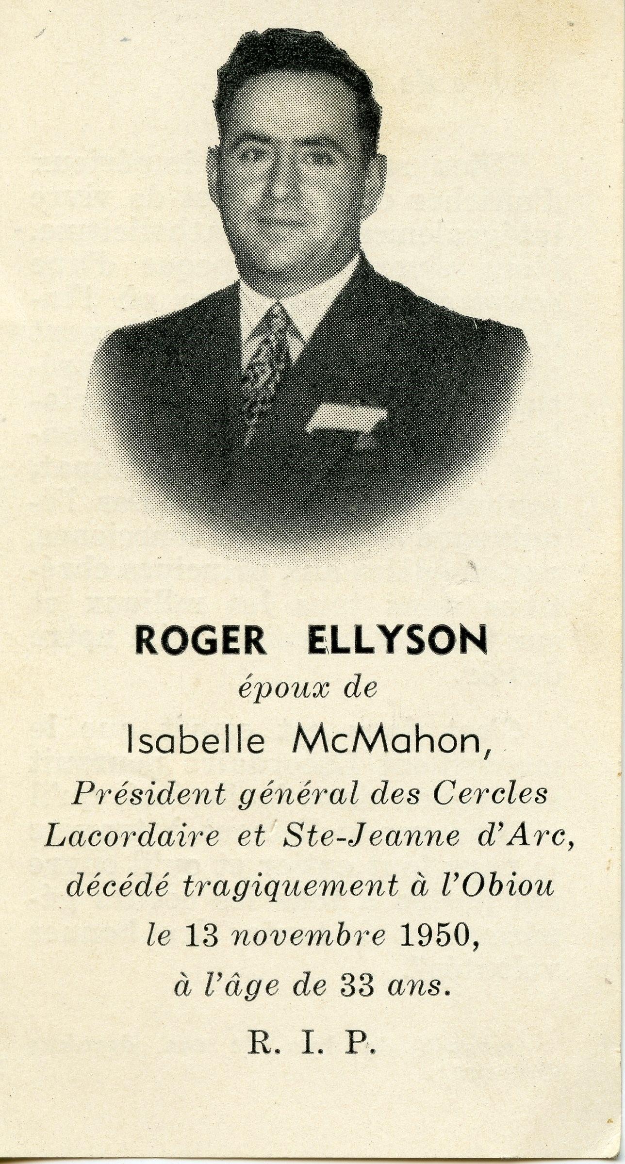 Roger Ellyson 1933-1950