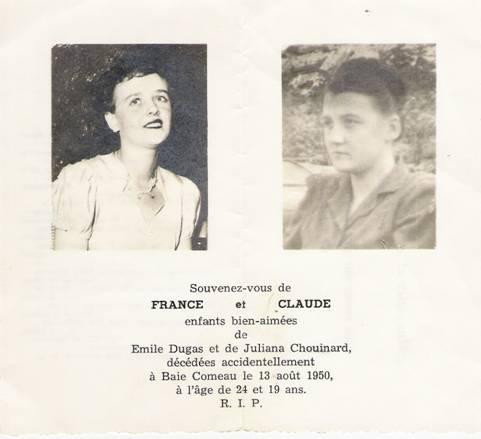 France et Claude Dugas
