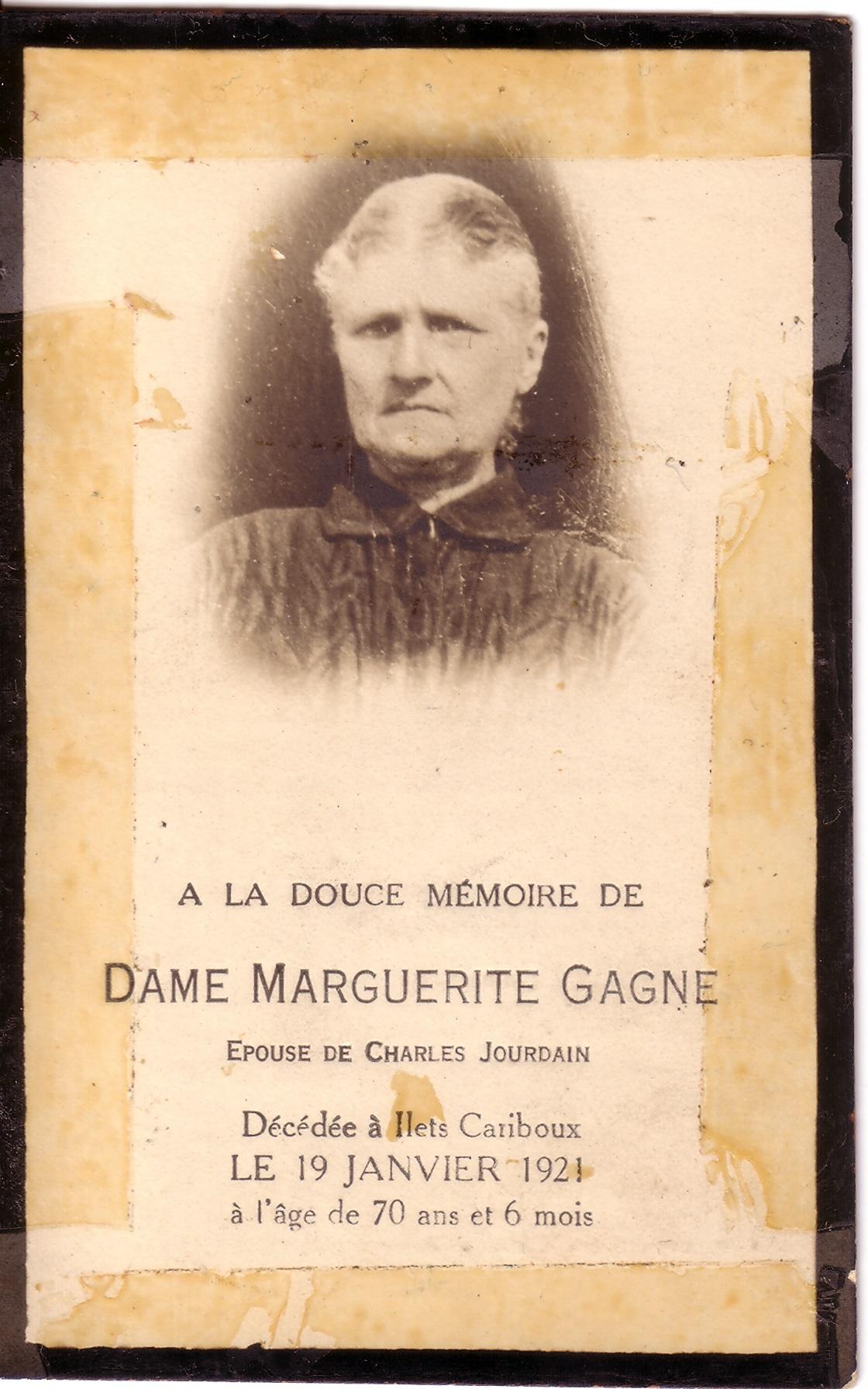Marguerite Gagné 1851-1921