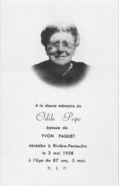 Odile Pope 1871-1958