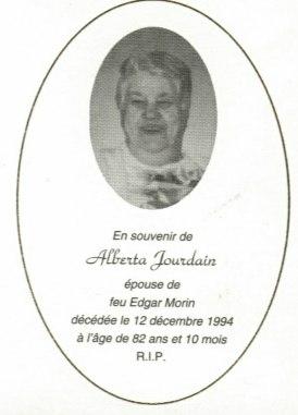 Alberta Jourdain 1912-1994