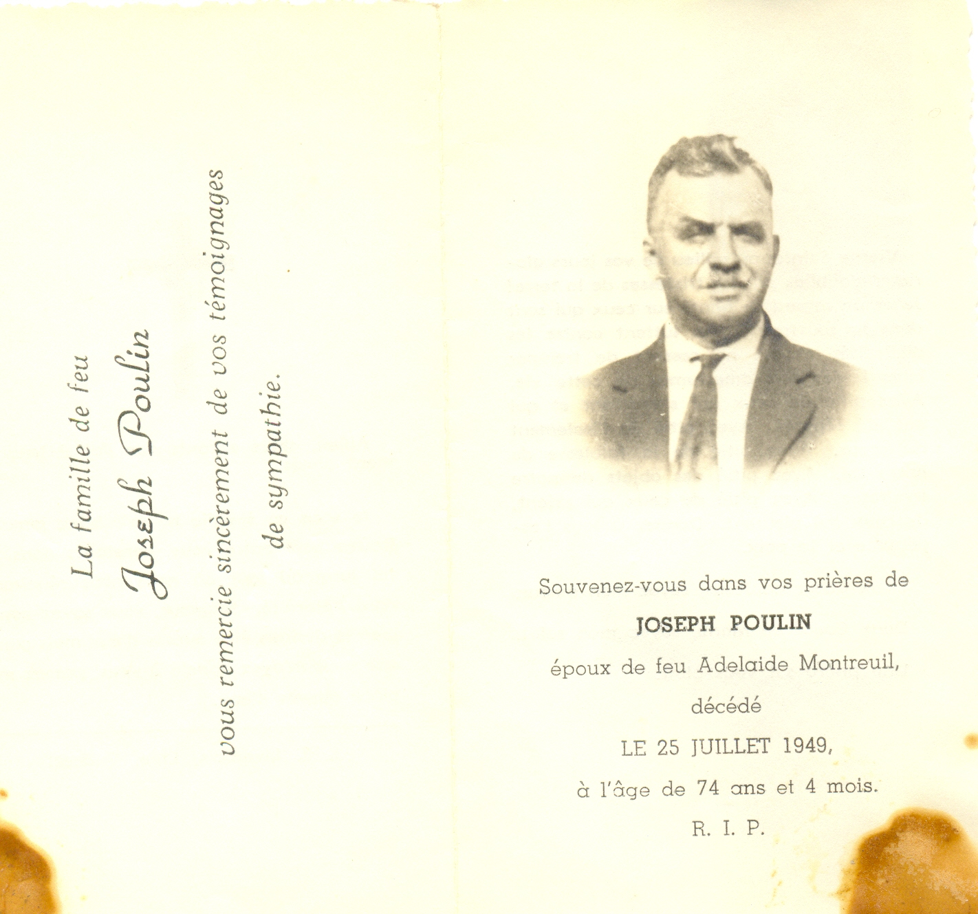 Joseph Poulin 1875-1949