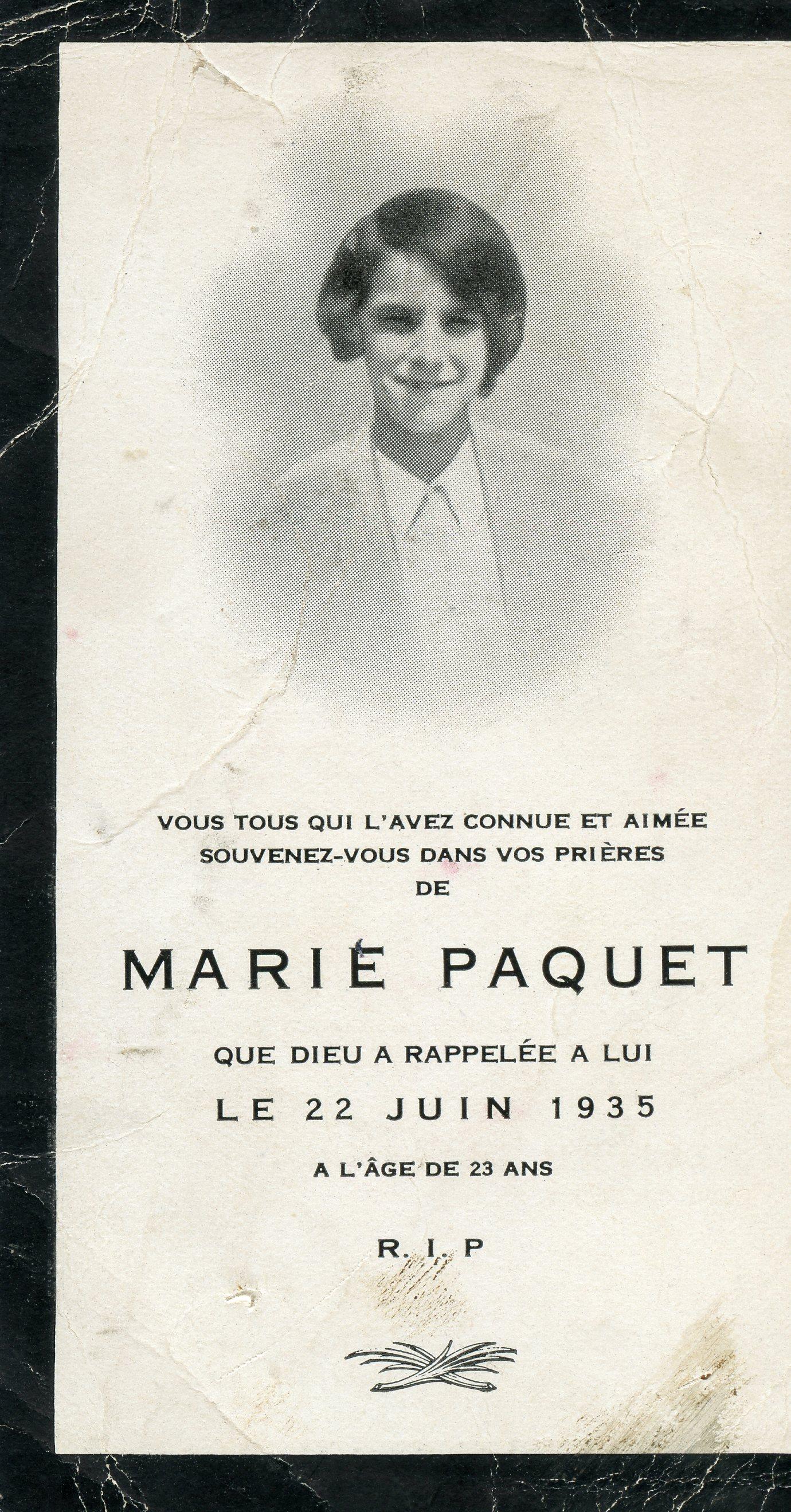 Marie Paquet 1912-1935