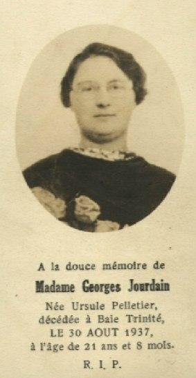 Ursule Pelletier  1916-1937