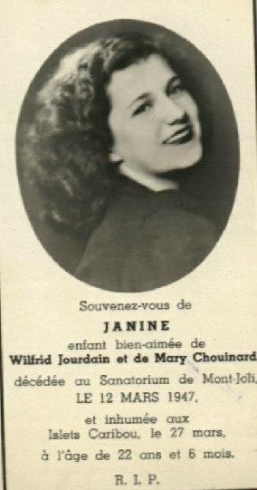 Janine Jourdain 1925-1947