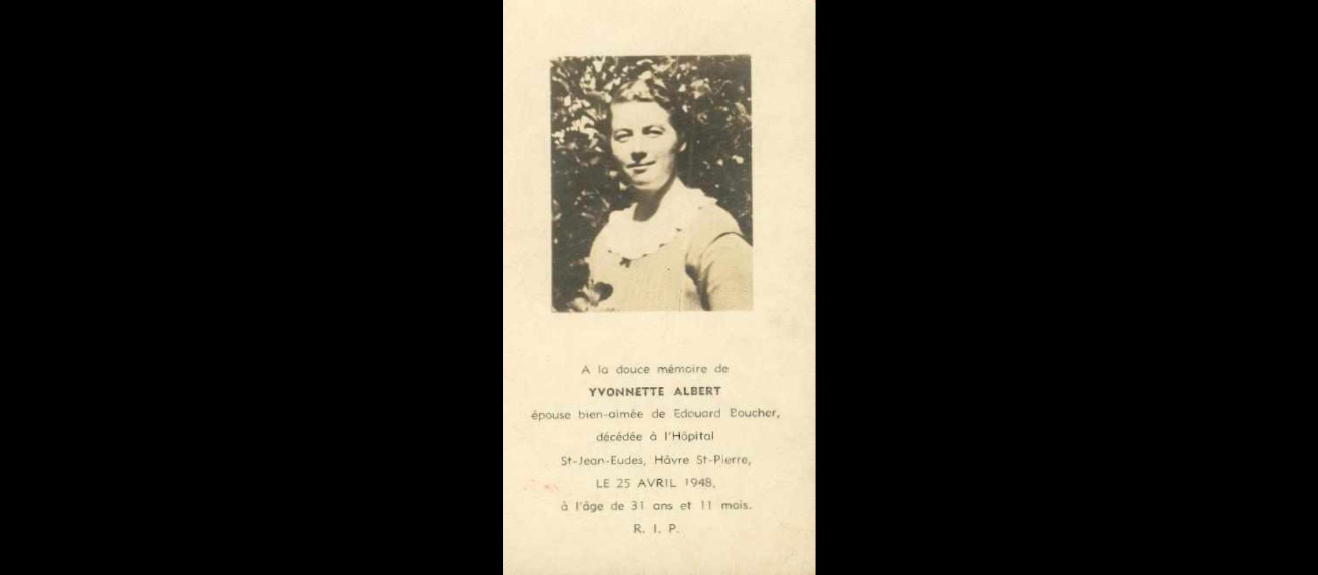 Yvonnette Albert 1917-1948