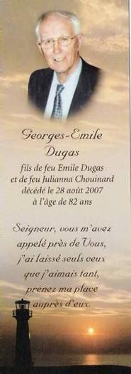 Georges Émile Dugas 1925-2007