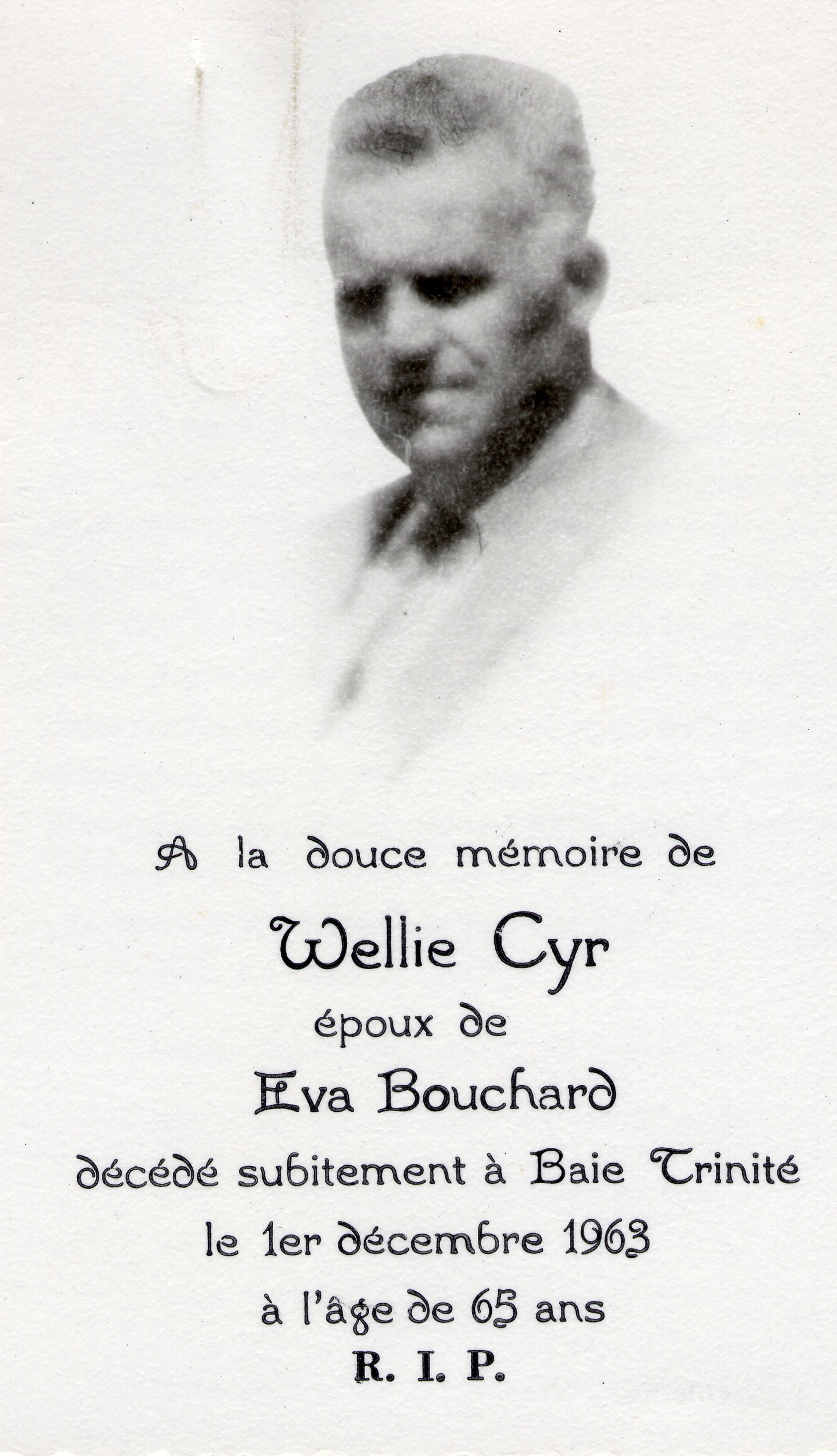 Welly Cyr 1898-1965
