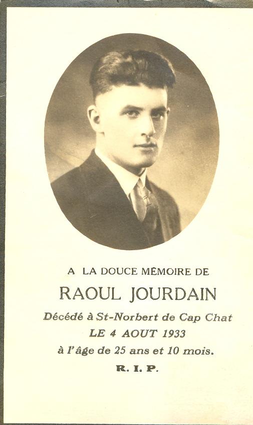 Raoul Jourdain 1908-1933