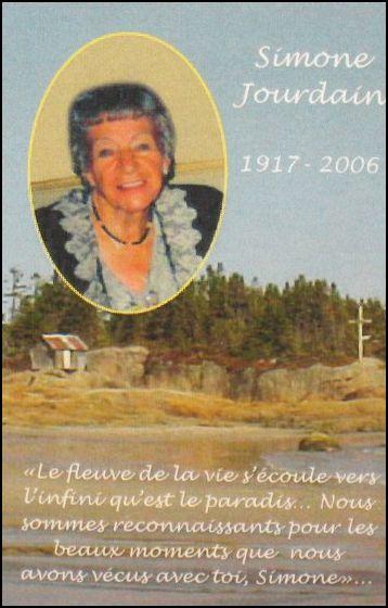 Simone Jourdain 1917-2006