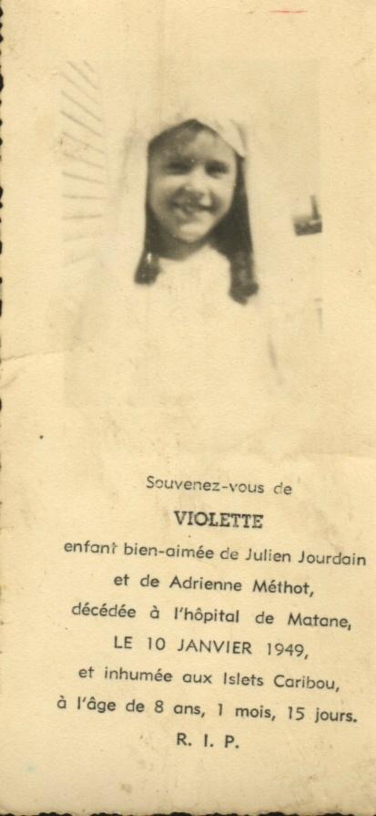 Violette Jourdain 1940-1948