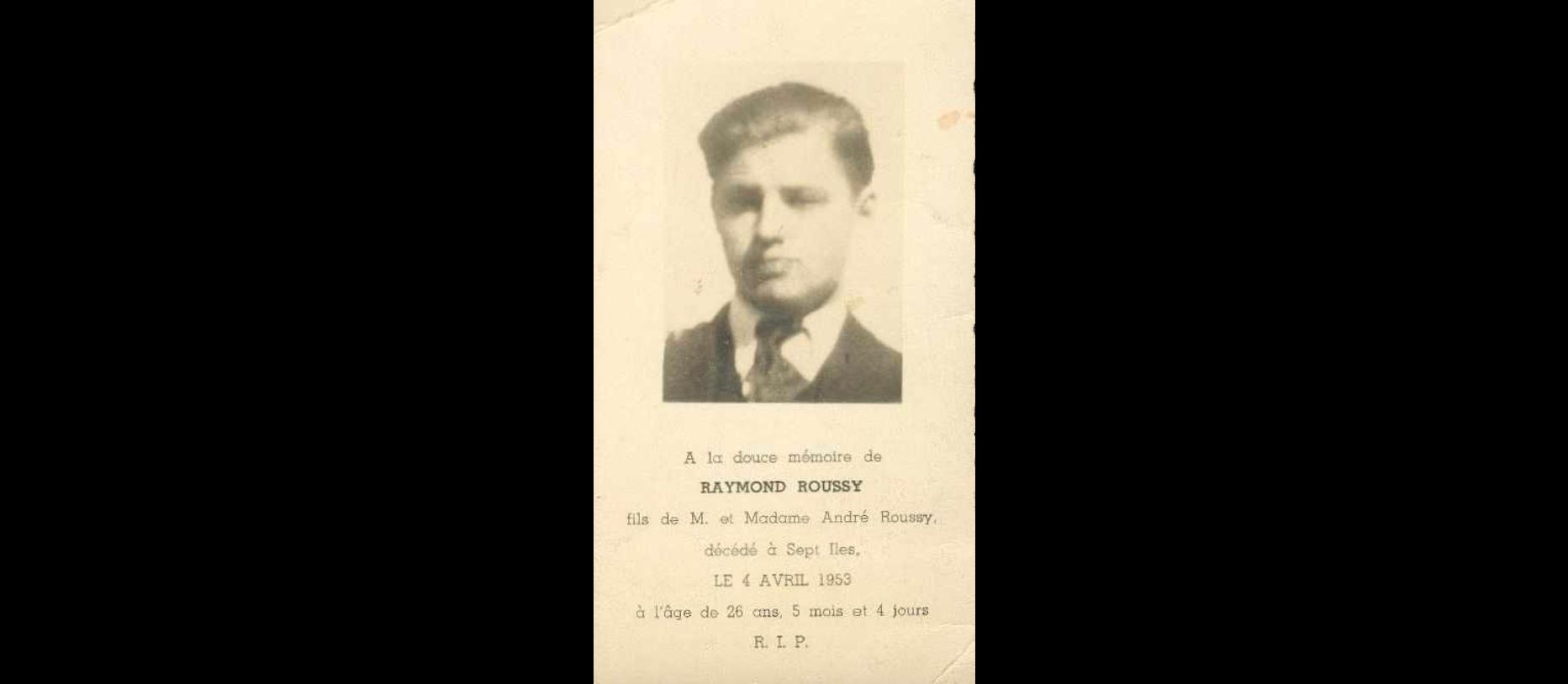 Raymond Roussy  1927-1953
