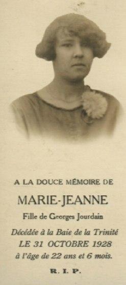 Jeanne Jourdain 1906-1928
