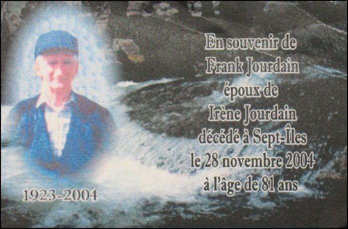 Frank Jourdain 1923-2004
