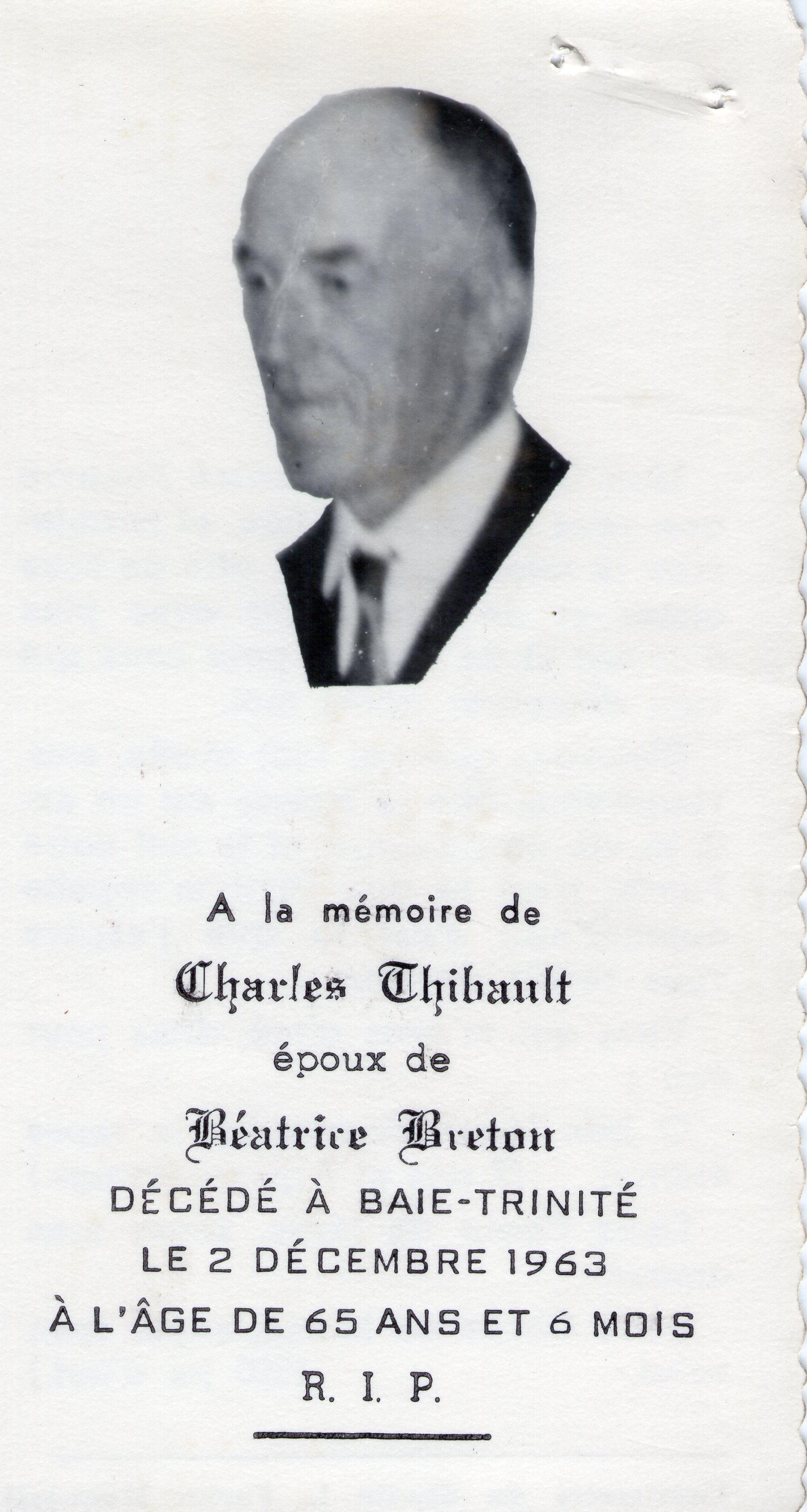 Charles Thibeault 1898-1963