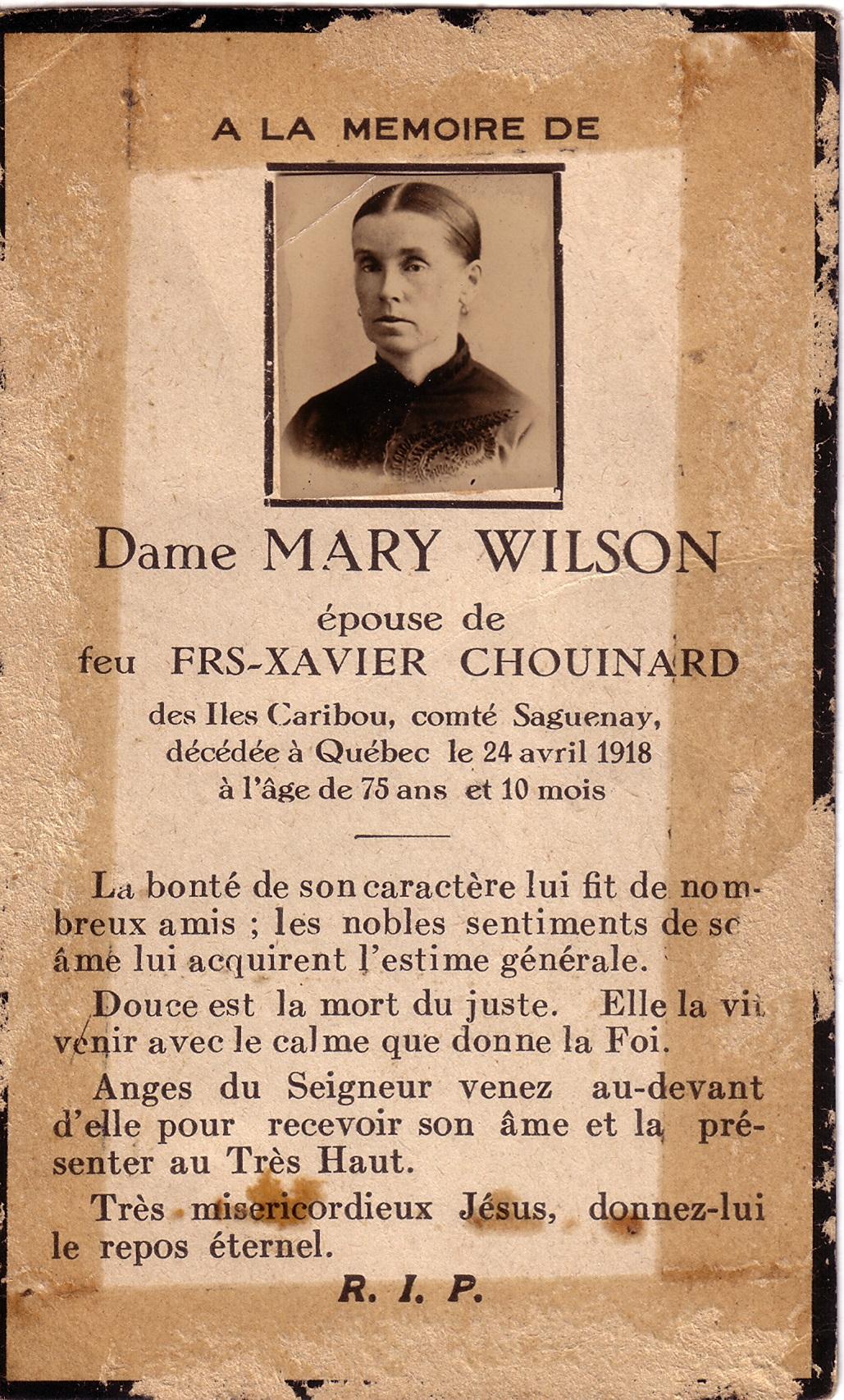 Mary Wilson  1842-1918