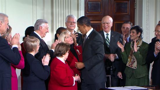 Lili Ledbetter with Obama.jpg