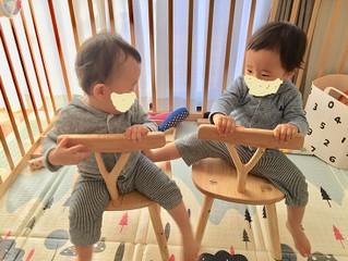 ヒノキの幼児ウインザーチェアが出来上がりました!