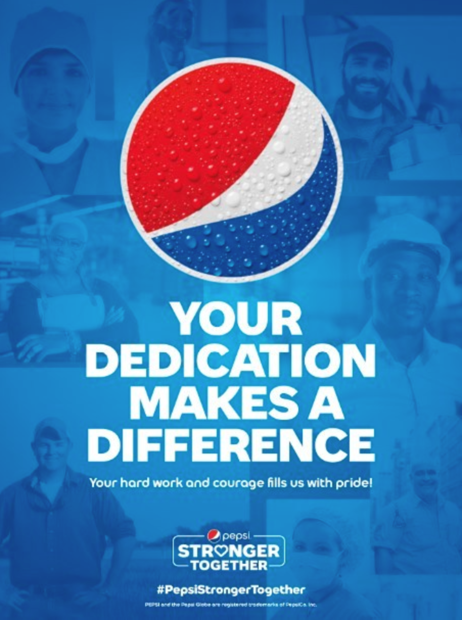 Examples of brand purpose - Pepsi by Outsourced imagination.j