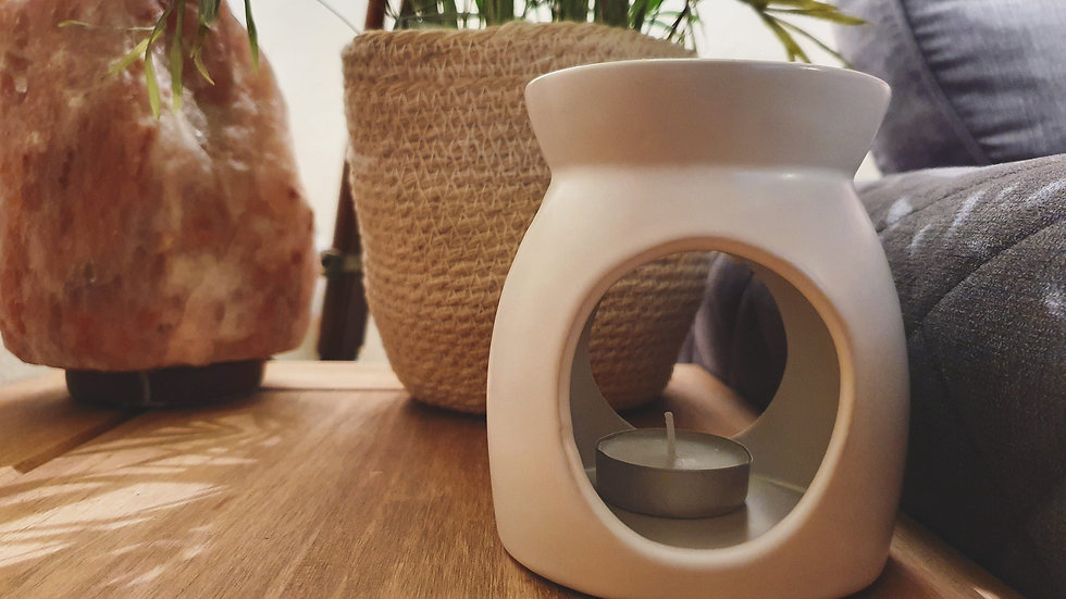 White Ceramic Wax Burner