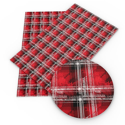 """Distressed"" Faux Flannel Plaid Embroidery Vinyl"