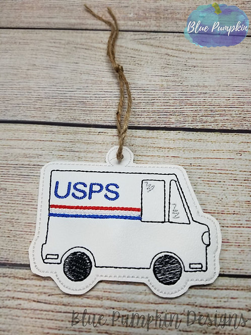 Mail Truck Ornament and Gift Card Holder