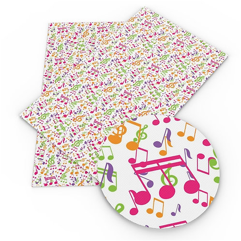 Multi Color Musical Notes Embroidery Vinyl