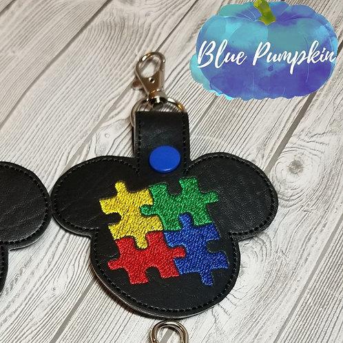 Boy Mouse Autism Key Fob