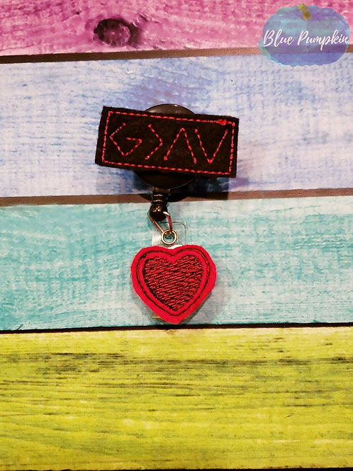 God Greater than Highs and Lows Badge Reel Feltie Design