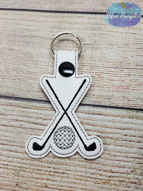 Golf Clubs Key Fob