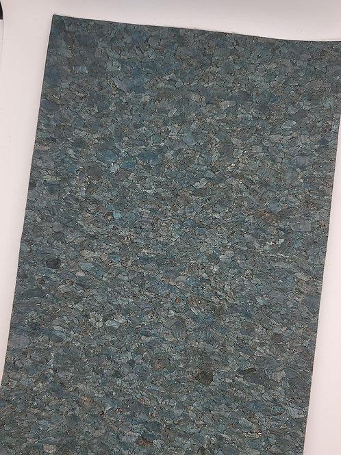 Blue Thin Cork Embroidery Vinyl