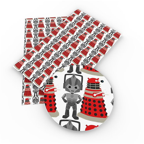 Daleks and Cybermen Dr. Who Printed Embroidery Vinyl