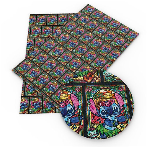 Stain Glass Alien Printed Embroidery Vinyl