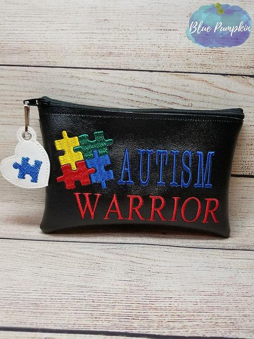 Autism Warrior ITH Zipper Bag Design