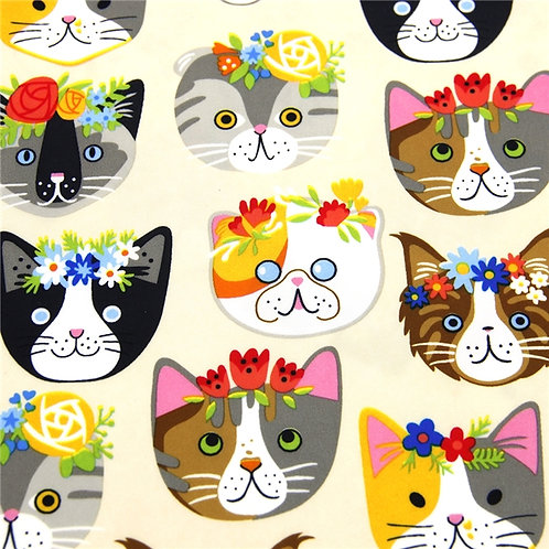 Waterproof Cats Printed Fabric
