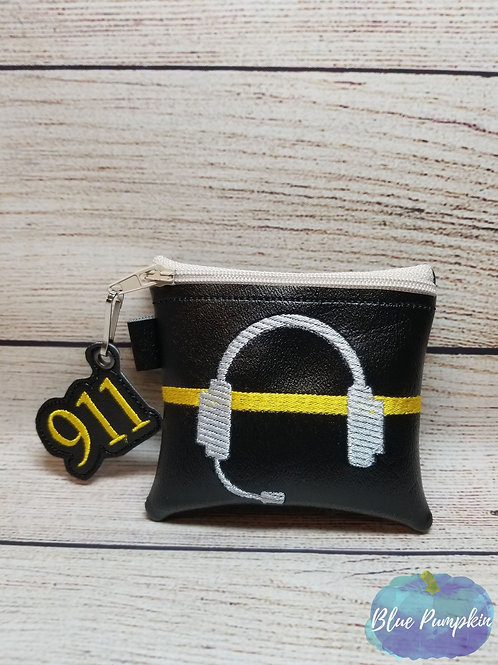 4x4 911 Dispatcher ITH Zipper Bag Design