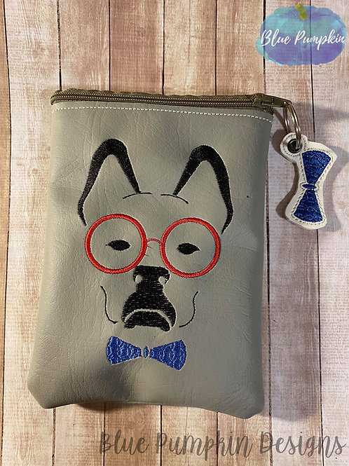 Dog with Glasses ITH Bag Design