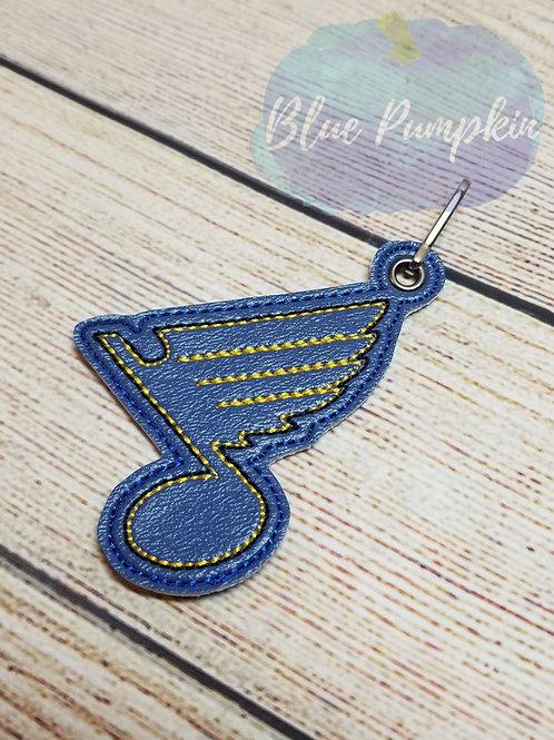 Blues Hockey ITH Zipper Pull