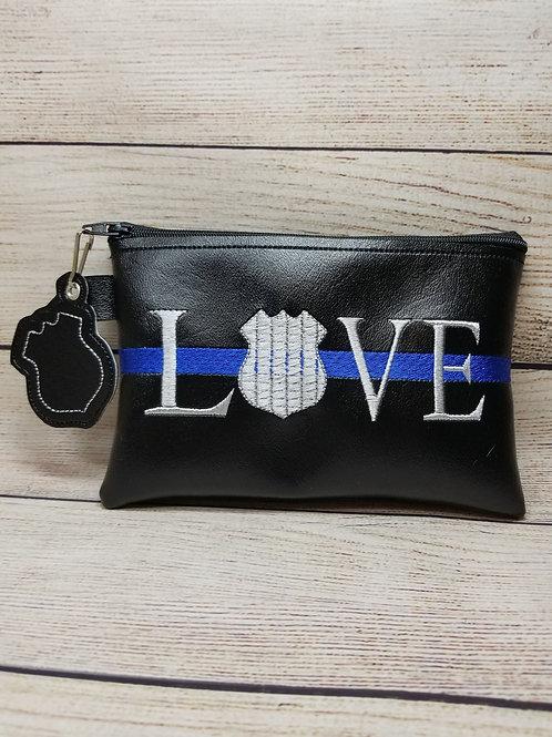 Love Police Badge ITH Zipper Bag Design