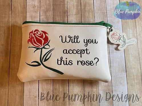 Accept Rose 5x7 ITH Zipper Bag Design