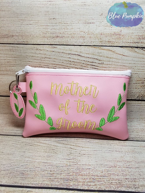 Mother of the Groom ITH Zipper Bag Design