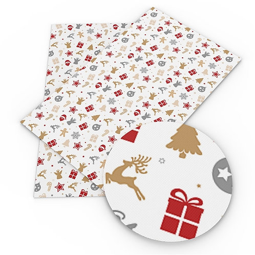 Gold Blue Red Christmas Items Embroidery Vinyl