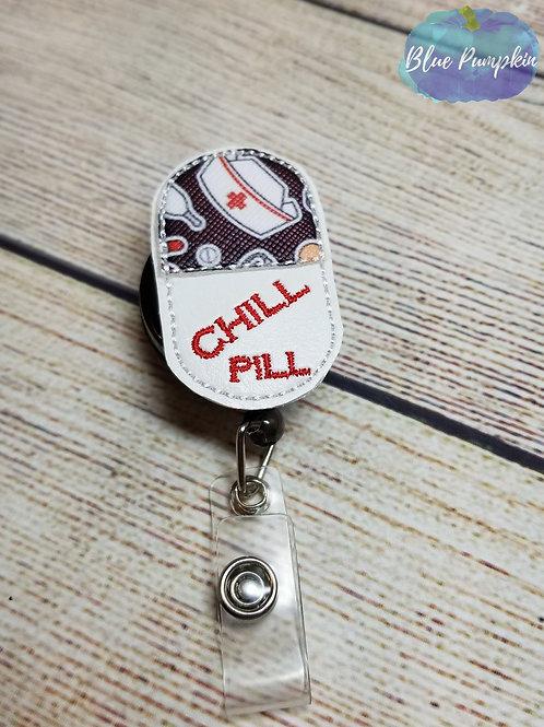Chill Pill Badge Reel Feltie Design