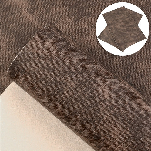 Dark Brown Cowboy Embroidery Vinyl